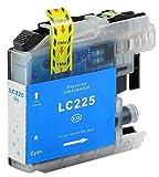 Bubprint Druckerpatrone kompatibel für Brother LC-225XL C LC225XLC LC 225XL für DCP-J4120DW MFC-J4420DW MFC-J4620DW MFC-J5320DW MFC-J5620DW Cyan