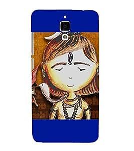 PrintVisa Lord Shri Shiv Shakar 3D Hard Polycarbonate Designer Back Case Cover for Xiaomi Redmi Mi 4 :: Redmi Mi 4