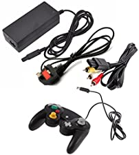 3rd Party Replacement Nintendo Gamecube Accessory Bundle, Power/AV & Controller