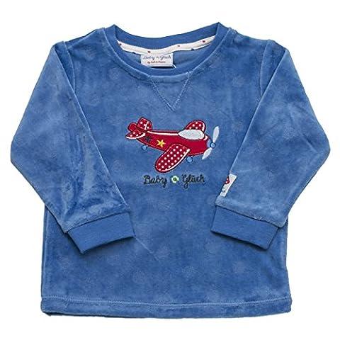SALT AND PEPPER Baby-Jungen Sweatshirt BG Sweat Nicki Flieger Blau (Classic Blue 449), 68