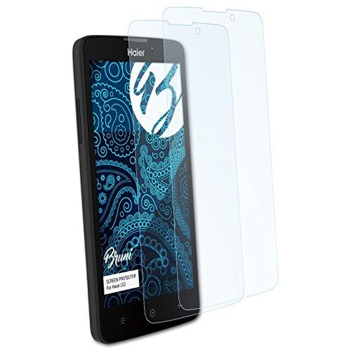 Bruni Schutzfolie kompatibel mit Haier L52 Folie, glasklare Bildschirmschutzfolie (2X)