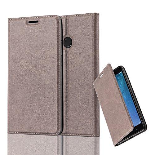 Cadorabo Hülle für Xiaomi Mi MAX 2 - Hülle in Kaffee BRAUN – Handyhülle mit Magnetverschluss, Standfunktion und Kartenfach - Case Cover Schutzhülle Etui Tasche Book Klapp Style