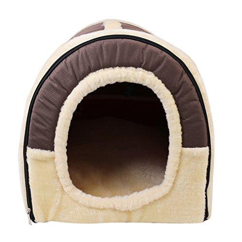 Cuccia casa per gatto letto per cani, nido 2 in 1 casa e divano, per cani cesta letto mascotte, antiscivolo pieghevole morbida materasso di cachemire rimovibile, by rgb