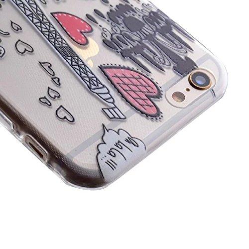 TIODIO® 4 en 1 Ultra Mince Soft Flexible TPU Coque Étui Housse Protecteur Cover Case pour Apple iPhone 5S E/ iPhone 5S, Stylus et Film protecteur inclus, A27 A16
