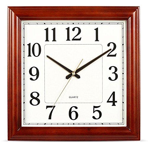 Vinteen Gehobene Massivholz Wanduhr Wohnzimmer Uhr Modern Einfache Vintage Taschenuhr Quarzuhr Stillen Chinesischen Stil Retro Platz Horologe Uhr Und Uhren