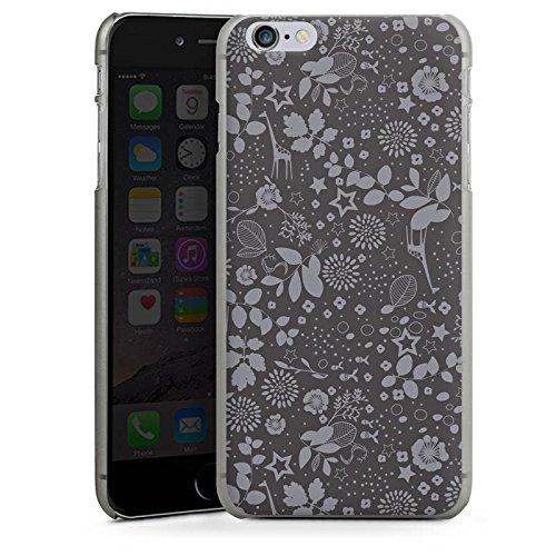 Apple iPhone 5 Housse étui coque protection Girafes Étoiles Gris CasDur anthracite clair
