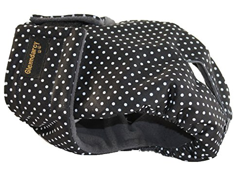 Glenndarcy Weibliche Hundewindel - Wasserdichtes Stoff - Dotty Black Large Pants & 2 Washable Pads -
