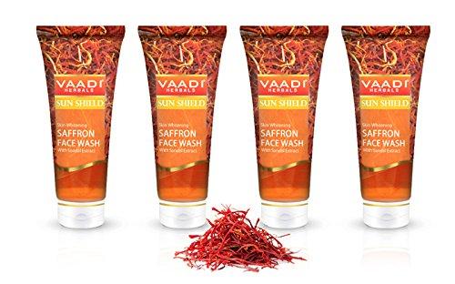 Vaadi Herbals Bio skin care face wash anti pickel facial cleanser Saffron face cleanser Männer Frauen 4 X 60 Ml