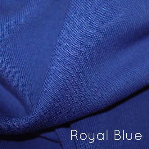 Neotrims type de mélange de coton en Lycra stretch Knit Rib Tissu pour tondre les vêtements, avec rebord, poignets et bordures. Poids léger Jersey tubulaire pour Apparel. Resilient, toucher doux Coton Naturel. Noir, Gris, Charbon de bois, Bleu marine et crème Couleurs. Excellent rapport Prix. Disponible en 1metre et demi Mètre Option., bleu marine, Half