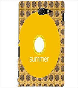 PrintDhaba Designer image D-4001 Back Case Cover for SONY XPERIA M2 (Multi-Coloured)