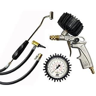 Reifenfüller Set mit Ventilstecker, Hebelstecker und Tankstellenstecker - Kupplungssystem