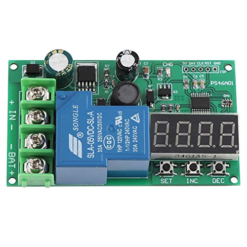 12V 24V 48V Ladegerät Board, Blei-Säure-Lithium-Batterie Überladeschutz Board Ladesteuerungsmodul mit LED-Anzeige (Blei-säure-batterie-ladegerät)