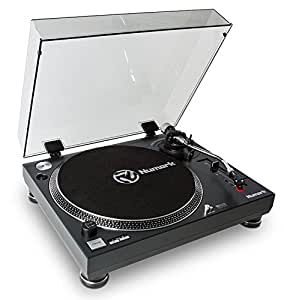 """Numark TT250 USB Giradischi DJ Semiautomatico a Trazione Diretta, con Piatto in Alluminio, Braccio a """"S"""" e Puntina Magnetica Inclusa"""