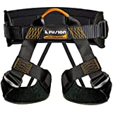 Fusion Climb Fusion Climb Centaur Padded Half Body Harness Black With Elastic Strap Climbing Gym Rope Black/Orange