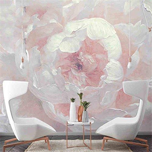 YIZHANGestilo Europeo Pintura al óleo de la Vendimia de Papel Tapiz Floral Dormitorio Sala de Estar de Fondo Papel de Pared Arte Mural Moderno 3D (1 * 1㎡)