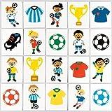 Baker Ross Fußball-Tattoos für Kinder - perfekt als kleine Partyüberraschung und Geschenkidee für Kinder (24 Stück)