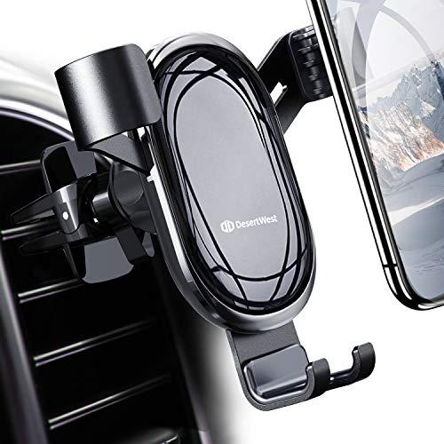 DesertWest Handyhalterung Auto, Handyhalter fürs Auto Lüftung Upgrade Universal Schwerkraft Kfz-Handyhalter für iPhone 11/11Pro/XS MAX/XS/XR/X/8/7/6P,Samsung Galaxy Note 10,Huawei,LG,Xiaomi,Sony usw.