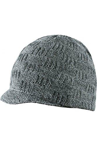 ANTA Q'ULQI - Berretto in punto mattone grigio scuro 100% in lana di baby alpaca - grigio, Taglia unica