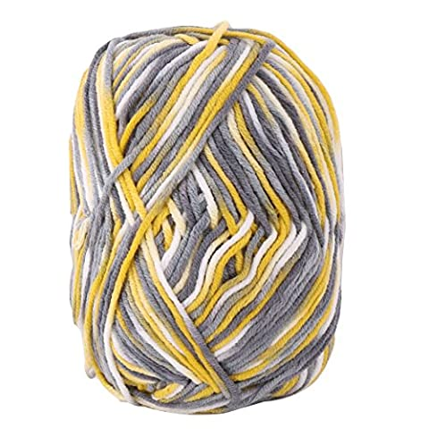 sourcingmap® Cotton Blends Home Handmade Crochet Scarf Gloves Sweater Knitting