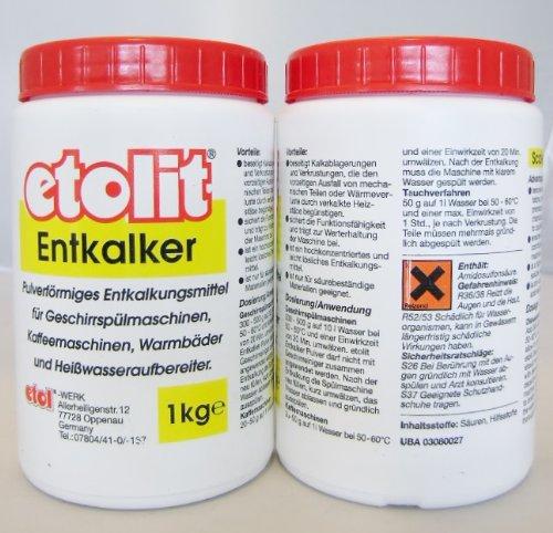 Etolit Entkalker für alle gängigen Siebträgermaschinen, wie für ECM,ISOMAC,VIBIEMME,RANCILIO,...