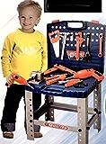 Nerd Clear Kinderwerkbank Kinderwerkzeug Werkzeugkiste Werkzeugkoffer Kinderwerkstatt 72cm