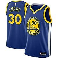 NBA GS Curry 30 Swingman Men Jersey Hombres (Azul, S)