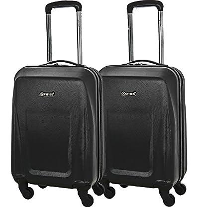 5-Cities-Leichtgewicht-ABS-Hartschale-4-Rollen-Handgepck-Trolley-Koffer-Bordgepck-Kabinentrolley-Reisekoffer-Gepck-Genehmigt-fr-Ryanair-easyJet-Lufthansa-Jet2-und-Vieles-Mehr