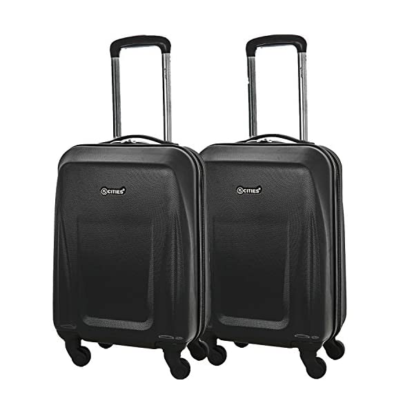 78e4a3737 5 Cities Lightweight ABS Hard Shell Carry On Cabin Hand Luggage ...