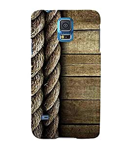 Samsung Galaxy S5 Neo :: Samsung Galaxy S5 Neo G903F :: Samsung Galaxy S5 Neo G903W wood old wood plank with rope ropes Designer Printed High Quality Smooth Matte Protective Mobile Case Back Pouch Cover by Paresha