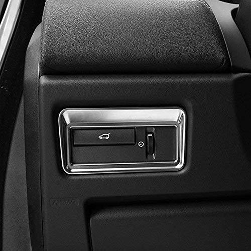 ABS-Kunststoff Heckklappe Schalter Button Trim Cover Aufkleber Silber matt für Range Rover RR Evoque Vogue Sport L405 Autobiography 2012-2017 EINWEG