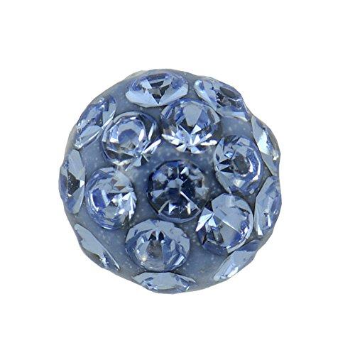 Studex Sensitive groß 8mm Light Sapphire Kristall Feuerball Ohrstecker Edelstahl Ohrringe
