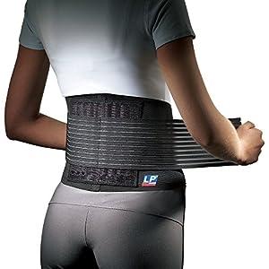 LP Support 919 Rückenbandage mit Stabilisierungsstäben – Rückenschutz – unisex, Größe:S/M, Farbe:schwarz