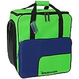 BRUBAKER scarponi borsa casco borsa SUPER FUNCTION 2.0 zaino bag scarpone da sci con lo zaino comfort bag caratteristica di sport Inverno 2013 NUOVO - colore blu / verde