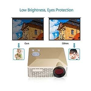 Crenova® LED Mini Proiettore Portatile (d'oro, BL-18)