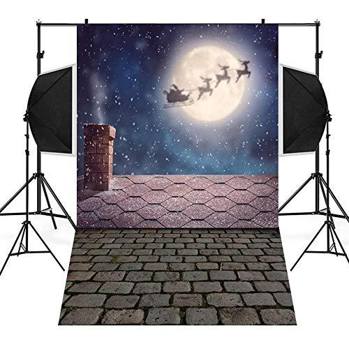 Wawer 3D Weihnachten Szenen Fotografie Hintergrund Schneemann Hintergrund Vinyl 3x5FT Laterne Hintergrund Fotografie Studio (B)