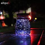 Creativo regalo di Natale carica solare colorata barattolo di luce di notte bottiglia luminosa bella foto creativa Natale vaso di sole mini colore