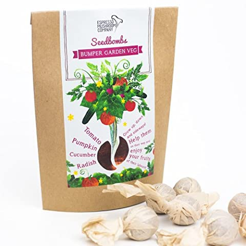 Espresso Mushroom Company Bumper Garden Veg Seedbomb to Grow Tomato/