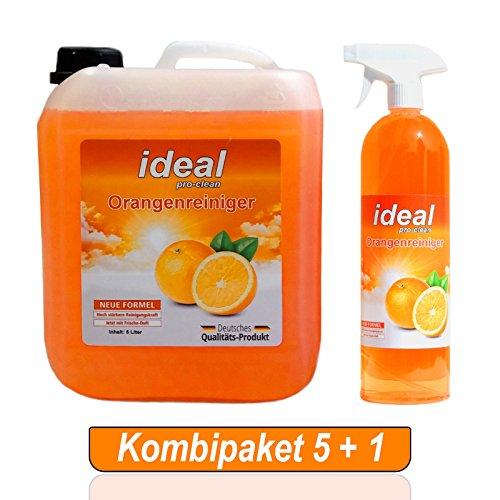 ideal Orangenreiniger Konzentrat 5 Liter + 1 Liter in der Sprühflasche / Fleckenentferner / Konzentrat