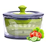 Royalford Jumbo Salad Spinner - 4400ML Capacity, Multipurpose, Anti-Slip Base, Lid Lock, Spin-Knob