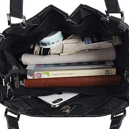 51HT%2BdOjpkL. SS416  - VBIGER Bolso Geométrico Bolso de Hombro Mujer Estilo Shopper Bolso de Mano Mujer Nergo (Negro)
