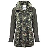 Khujo Damen Parka, Farbe:camouflage;Größe:L