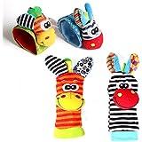 Cartoon Baby Toys 0-12 Months Soft Animal Baby Rattles Children Infant Newborn Plush Sock Baby Toy Wrist Strap Baby Foot Sock