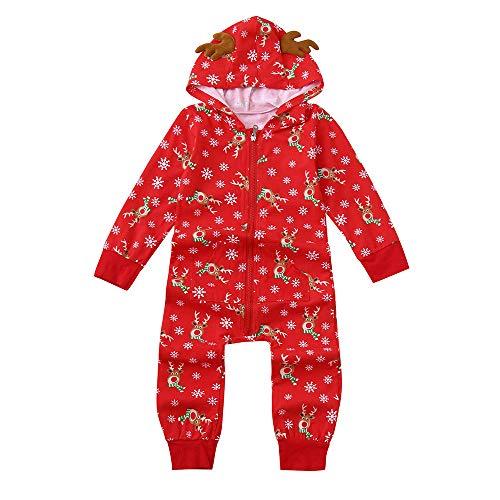 MIRRAY Weihnachten Hoodies Strampler Kid Baby Boy Mädchen Overall Familie Pyjamas Nachtwäsche Weihnachten Outfit