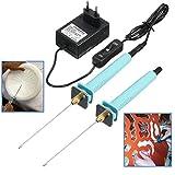 2pcs Elektrische Schaum Schneidemaschine Stift, GOCHANGE 100-240V / 15W Fertigkeit heißen Messer 10CM Styropor Schneide Pen mit elektronischer Spannungs Transformator Adapter 2pcs