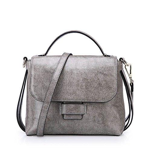 Handtaschen Damen-Tasche Damen-Tasche Mädchen Party Retro Damen Mode Kollokation Handtasche Umhängetasche Kuriertasche Ledertasche Grey