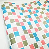 dooxoo 44x 200cm Küche PVC Aluminium Folie self-adhensive Mosaik Aufkleber Öl Tapete Wand Aufkleber Badezimmer Spiegel Wasserdicht Wandtattoo - rose