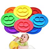 GULUDED Silicone Food Tray Feeder Baby Feeding Pad, Kids Silicone Feeding Pad For Baby Kids Random Color,EasyMat Portable Baby Suction Plate