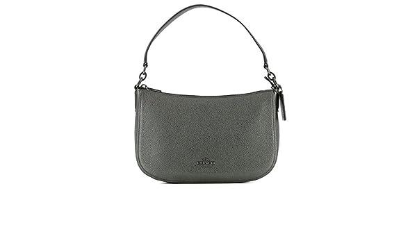 e7172a2b11df Coach Women s 22859Dkm4z Grey Leather Shoulder Bag  Amazon.co.uk  Clothing
