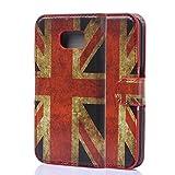 Tinxi® Custodia Case in PU Artificiale Pelle per Samsung Galaxy S6 Edge Case Cover Protettivo Protettote Speciale con Supporto di Stand+Carte Slot-Immagine di UK Bandiera