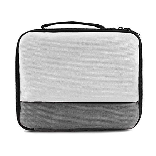 Handtasche Fall (Vococal Universal Tragbare Reise Carry Storage Protector Tasche Schutz Handtasche Fall für Canon Selphy CP1200 CP910 HITI Prinhome P310W Fotodrucker Grau)